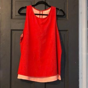 Red and Pink tank with layer detail